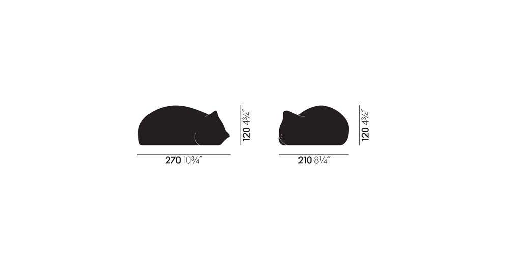 VITRA - Resting Cat Small