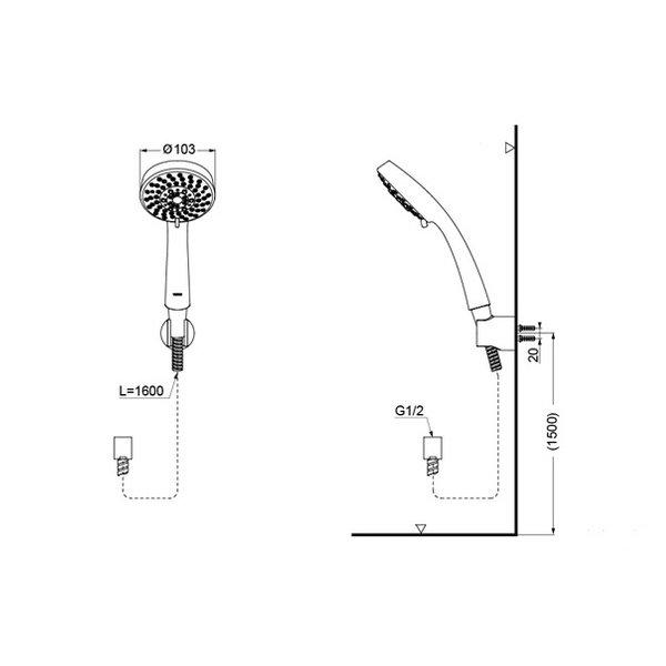 TBW01018 - L - Hand Shower (Multi Mode)