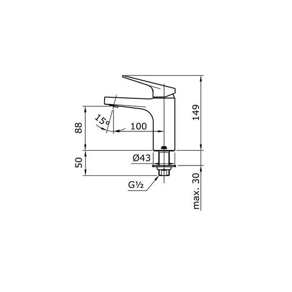 TX109LRS - REI S - Single Lever Lavatory Faucet (Cold Only)