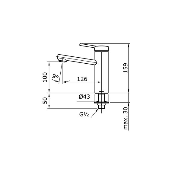 TX109LV - VASIL - Single Lever Lavatory Faucet (Cold Only)