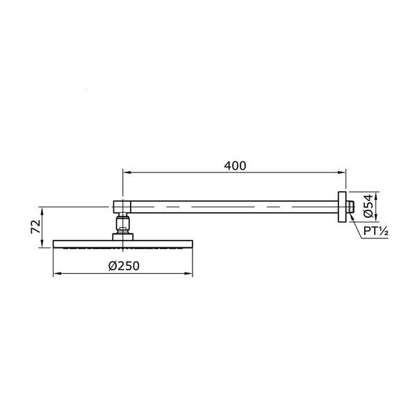 TX488SZ - Fixed Shower Head (Wall Type)