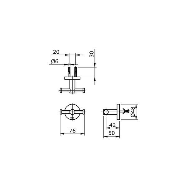 TX704AES - EGO II - Double Robe Hook