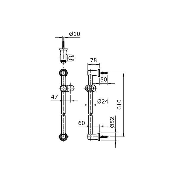 TX721AS - SATIN - Sliding Rail