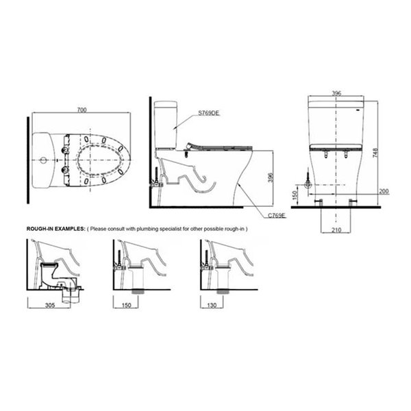 C769DESI - Close Coupled Toilet