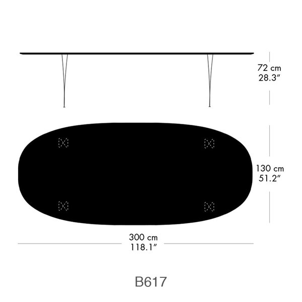 Super Elliptical Table 3 meter long