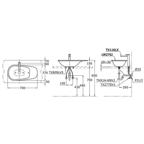 LW276J - ALISEI - Console Lavatory