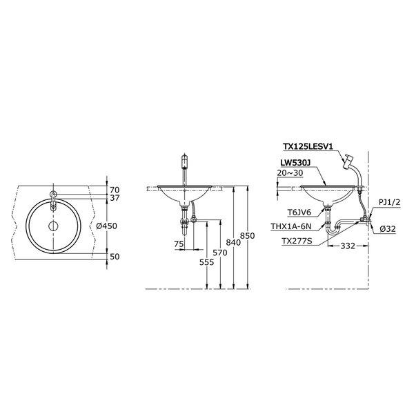 LW530J - Self Rimming Lavatory