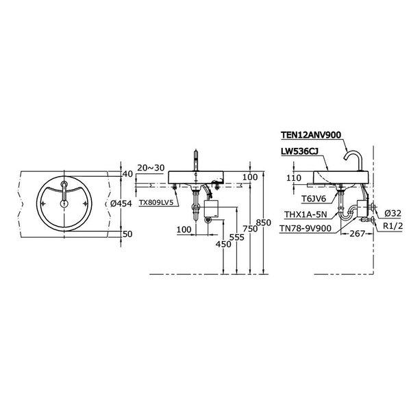 LW536CJ - Console Lavatory