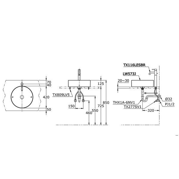 LW573J - Console Lavatory