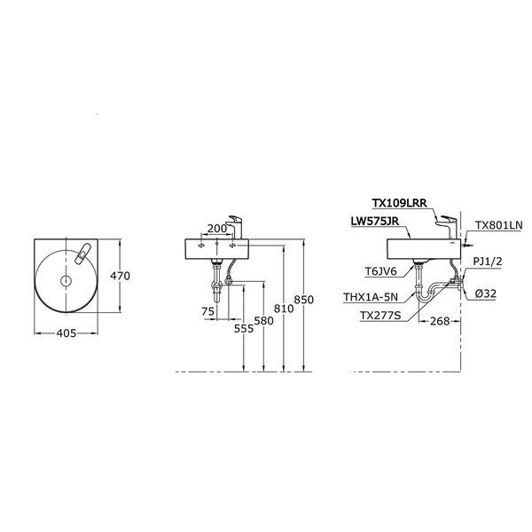 LW575JR - Wall Hung Lavatory