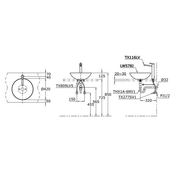 LW578J - Console Lavatory