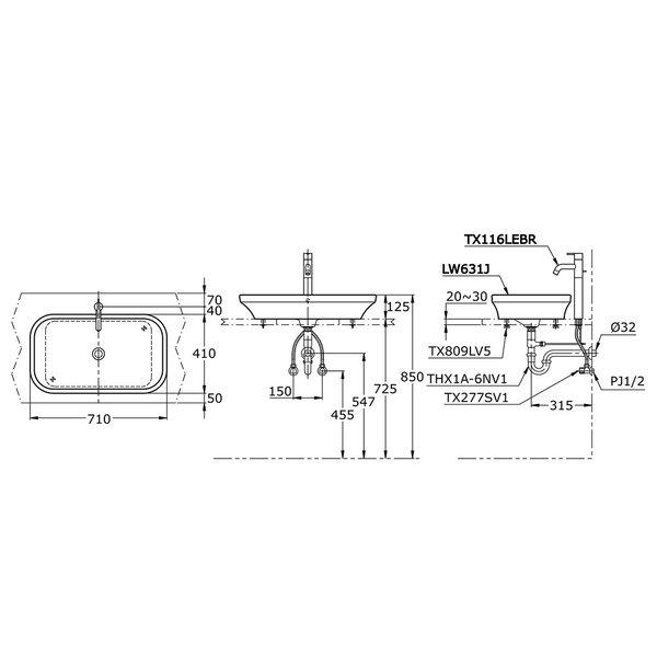 LW631J - Console Lavatory