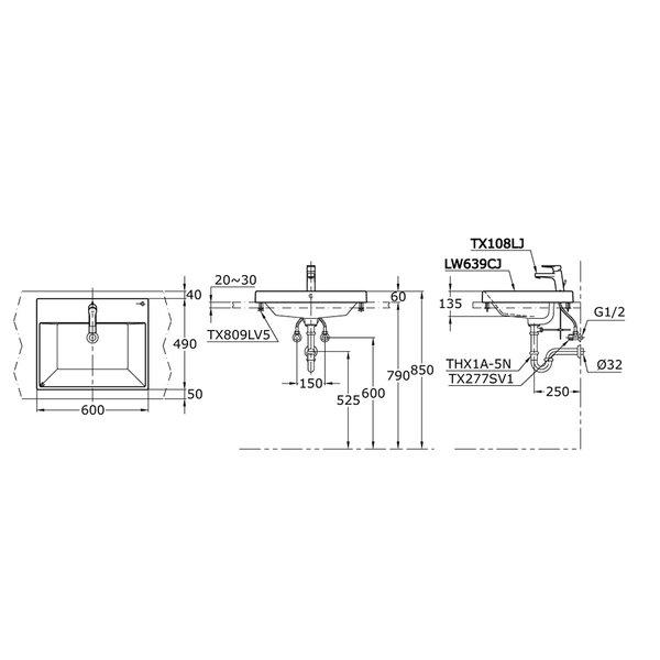 LW639CJ - Self Rimming Lavatory