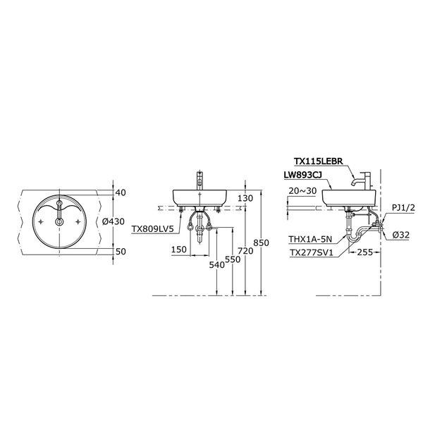 LW893CJ - OMNI+ - Console Lavatory