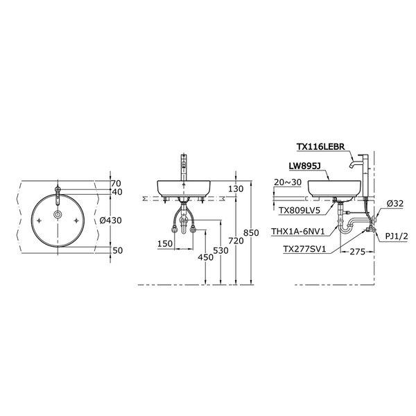 LW895J - OMNI+ - Console Lavatory