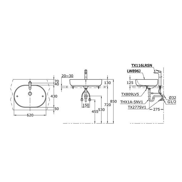 LW896J - OMNI+ - Console Lavatory