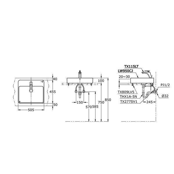LW950CJ - TOJA - Console Lavatory