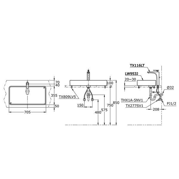 LW953J - TOJA - Console Lavatory