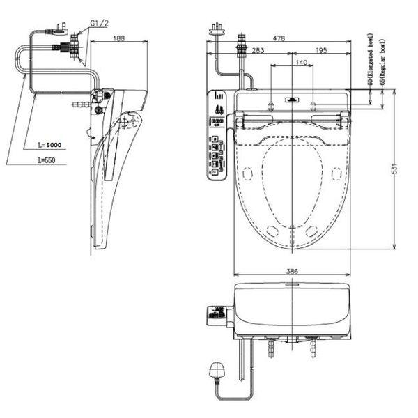 TCF6631SP - WASHLET