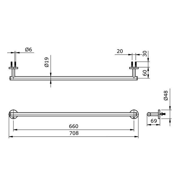 TX701AES - EGO II - Towel Bar