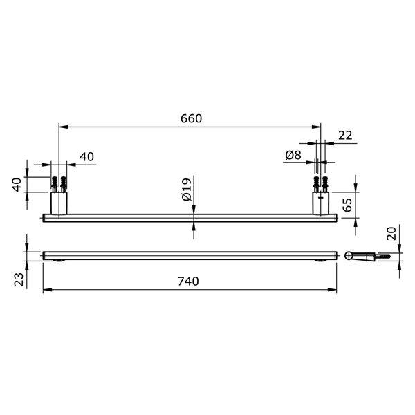 TX701ARR - REI R - Towel Bar