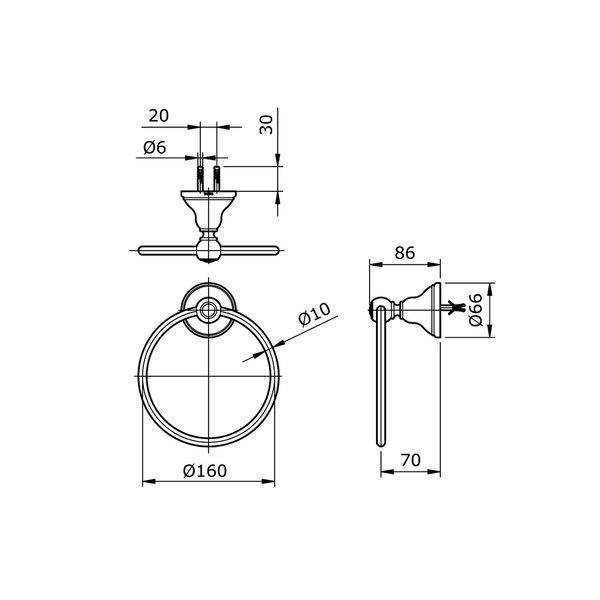 TX702AC - CURIO - Towel Ring