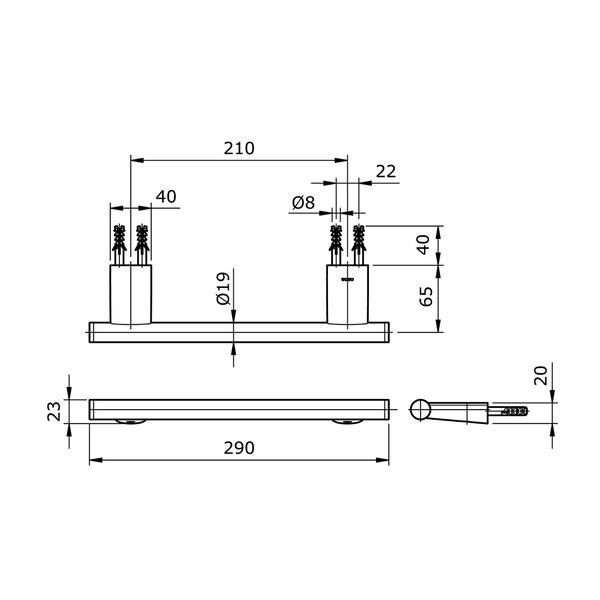 TX702ARR - REI R - Hand Towel Bar