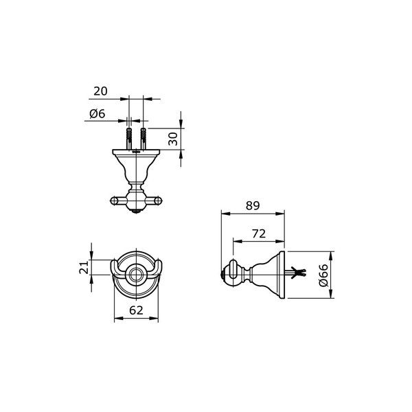 TX704ACW - CURIO - Double Robe Hook