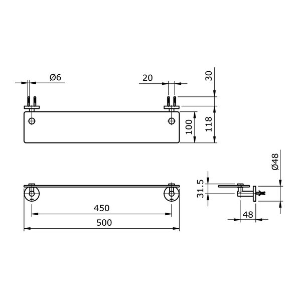 TX705AES - EGO II - Glass Shelf