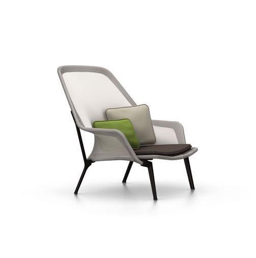 Slow Chair and Ottoman (Brwon / Cream)