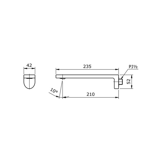 TX120LQBR - LE MUSE - Progressive Wall Type Lavatory Faucet