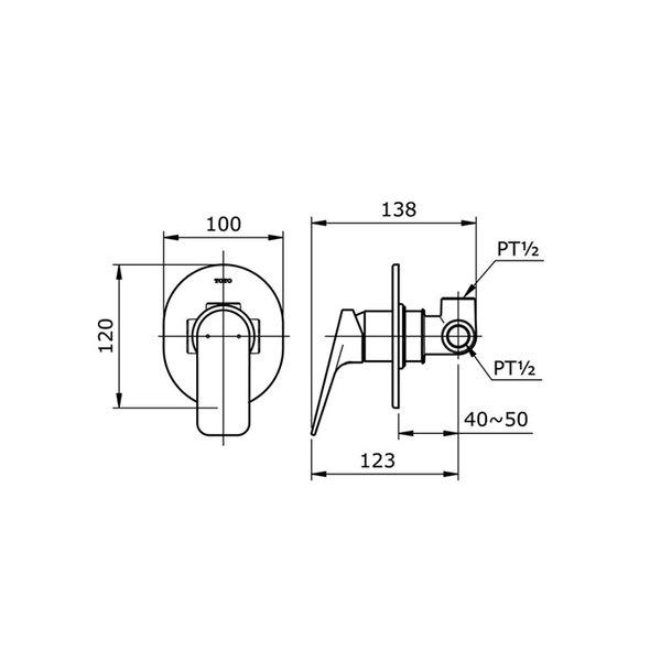 TX443SRSN - REI S - Single Lever Shower Mixer