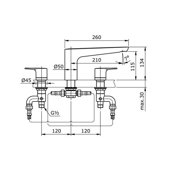 TX467SRR - REI R - Bath Filler & Mixer