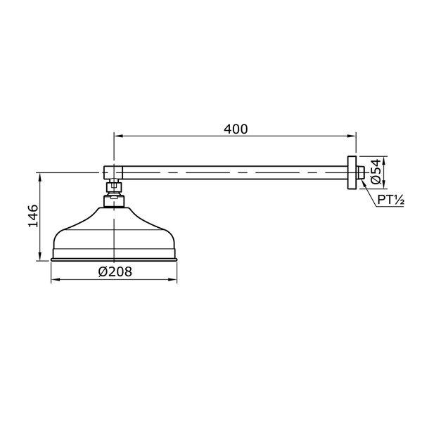 TX488SCZ - CURIO - Fixed Shower Head