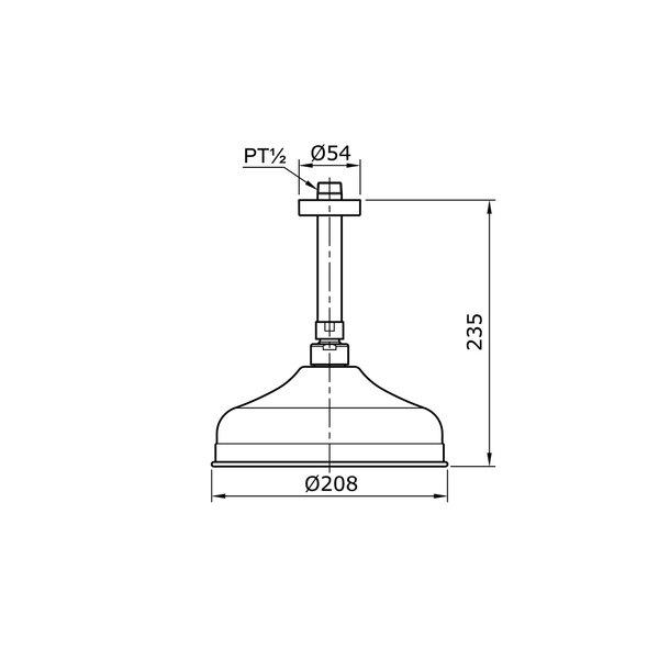 TX491SCZ - CURIO - Fixed Shower Head