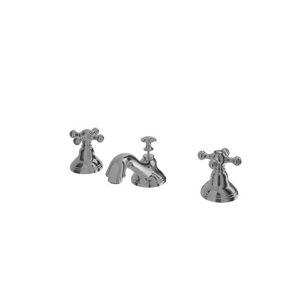 """TX103LCBR - CURIO - 8"""" Cross Handle Lavatory Faucet with Pop-Up Waste"""