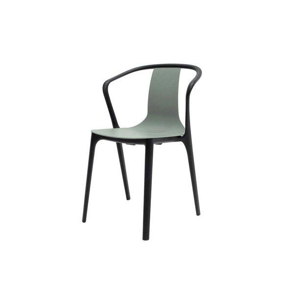 Belleville Armchair in Plastic in Moss Grey (CLEARANCE)